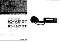 User Manual Icom IC-U210T