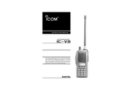 User Manual Icom IC-V8