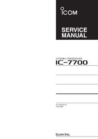 Manual de servicio Icom IC-7700