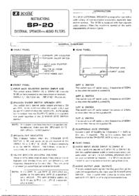 Serwis i User Manual Icom SP-SO