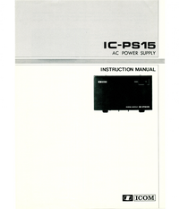 Servicio y Manual del usuario Icom IC-PS15