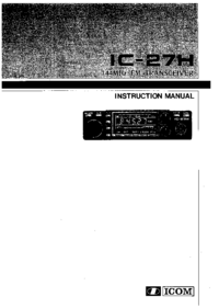 User Manual Icom IC-27H