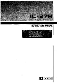 Manual do Usuário Icom IC-27H