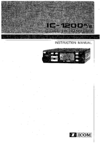 Service and User Manual Icom IC-1200E