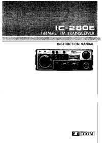 User Manual Icom IC-280E