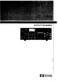 Service-en gebruikershandleiding Icom IC-740