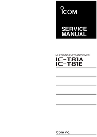 Service Manual Icom IC-T81E