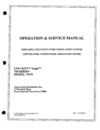 Service and User Manual Impact UNI-VENT™ Eagle™ 754M