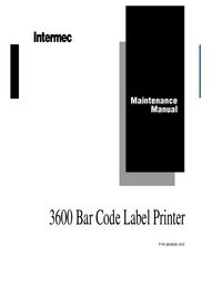 Manuale di servizio Intermec 3600