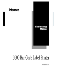 Servicehandboek Intermec 3600