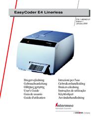 Manuale d'uso Intermec EasyCoder E4 Linerless