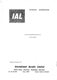 Manuale di servizio InternationalAeradio IA8509