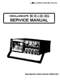 Instrukcja serwisowa Iwatsu SS-7606