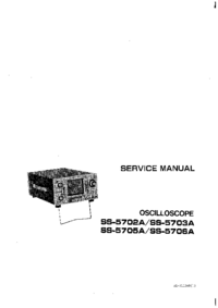 Service and User Manual Iwatsu ss-5703A