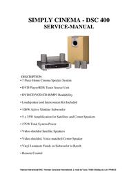manuel de réparation JBL DSC 400