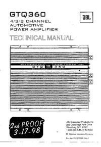 Manual de servicio JBL GTQ360