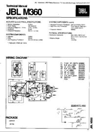 manuel de réparation JBL M360