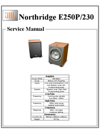 Service Manual JBL Northridge E250P