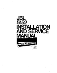 Serviceanleitung JBL 5152