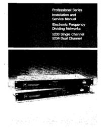 Руководство по техническому обслуживанию JBL 5233