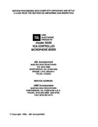 Serviceanleitung JBL 5330
