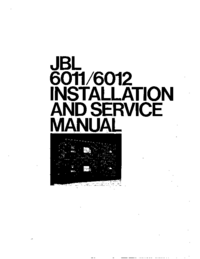 Serwis i User Manual JBL 6011