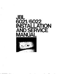 Manuale di servizio JBL 6021