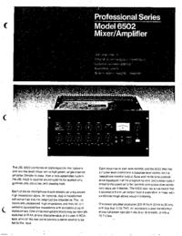 Servizio e manuale utente JBL 6502