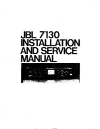 Service- und Bedienungsanleitung JBL 7130