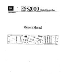 Service and User Manual JBL ES52000