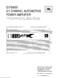 Manual de servicio JBL GTS600