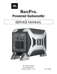 Servicehandboek JBL BassPro