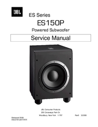 Manuale di servizio JBL ES150P