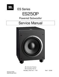 Manual de servicio JBL ES250P