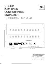 Instrukcja serwisowa JBL GTE422