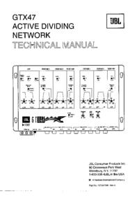 Руководство по техническому обслуживанию JBL GTX47