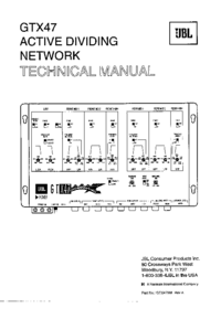 Manual de servicio JBL GTX47