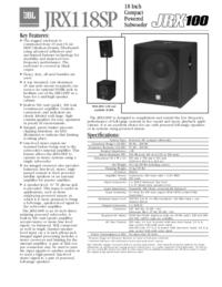 Datasheet JBL JRX118SP
