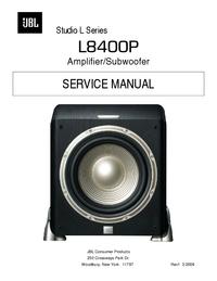 Manual de serviço JBL Studio L8400P