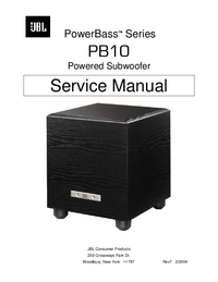 manuel de réparation JBL PowerBass PB10