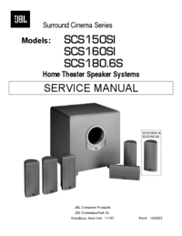 Serviceanleitung JBL SCS160SI