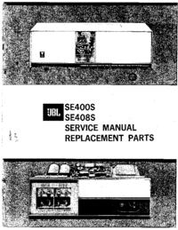 Руководство по техническому обслуживанию JBL SE400S