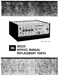 Руководство по техническому обслуживанию JBL SG520