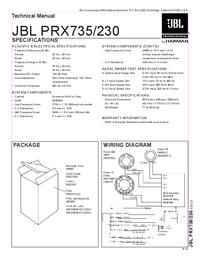 Manual de servicio JBL PRX230