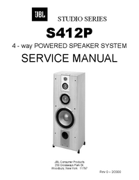 Manual de servicio JBL S412P