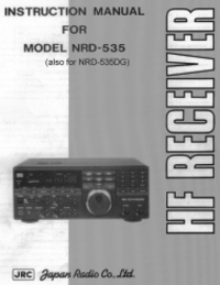 User Manual JRC NRD-535