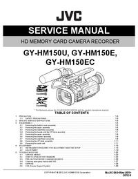 Instrukcja serwisowa JVC GY-HM150E