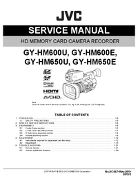 Service Manual JVC GY-HM650U