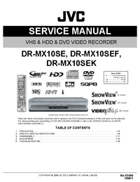 Manual de servicio JVC DR-MX10SE