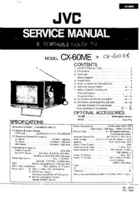 Руководство по техническому обслуживанию JVC CX-60ME